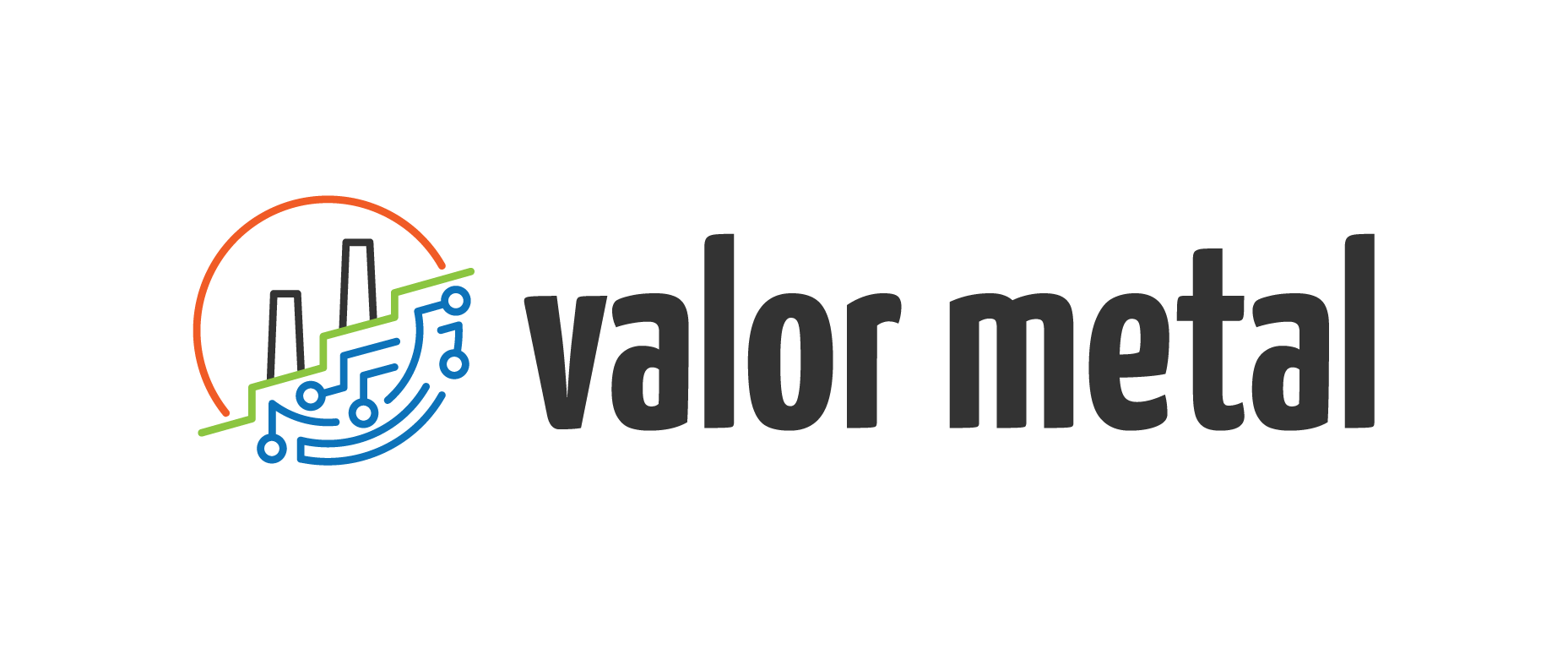 Valor metal logo horizontal